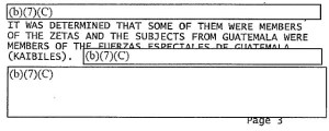 A May 2010 DEA report linked the Zetas to troops from Guatemala's feared Kaibiles special forces